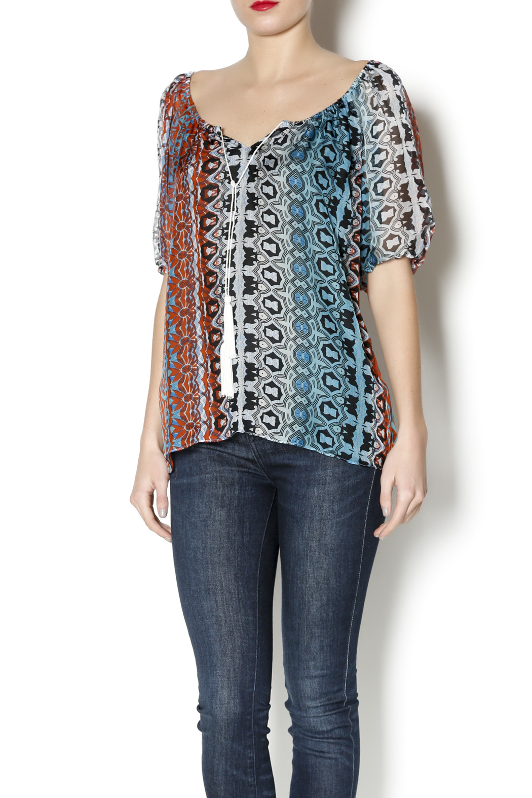Single Blum Peasant Blouse - Main Image