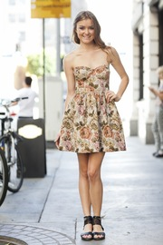 Black Swan Floral Tapestry Dress - Product Mini Image