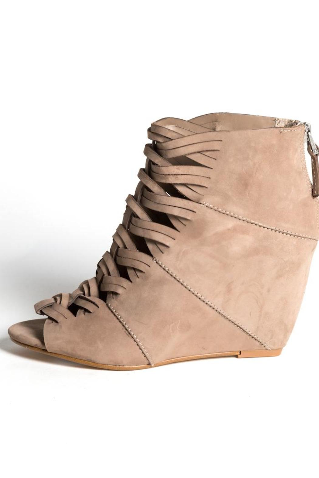 Dolce Vita Tan Suede Wedge - Front Cropped Image