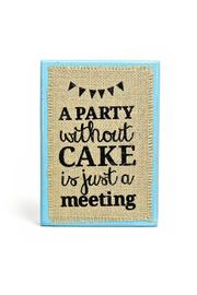 Bisrto & Block Party Burlap Plaque - Product Mini Image