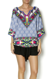 Pink Owl Multicolored Top - Front cropped