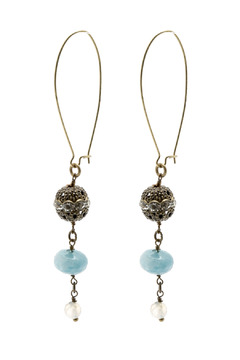 Shoptiques Product: Aquamarine Earrings