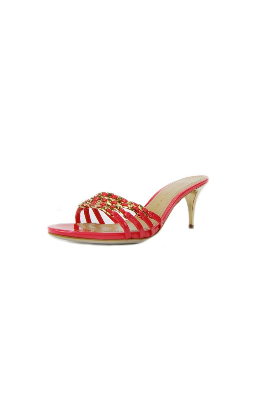 Luis Onofre Coral Patent Mule - Back Cropped Image