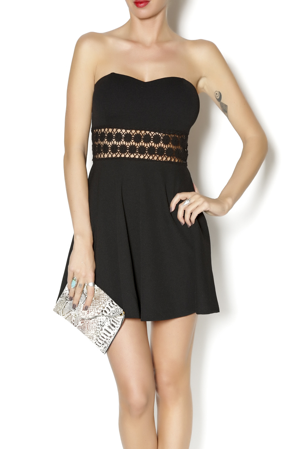 Coveted Clothing Strapless Emily Dress - Front Cropped Image