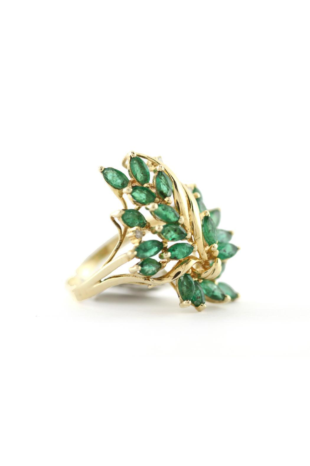 CDO` Emerald Cluster Ring - Main Image