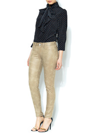 SOLD Faux Suede Skinny Pant - Front full body