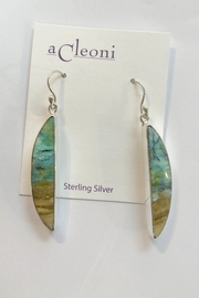 ACleoni 1/ CUT PETRIFIED EARRINGS - Front cropped