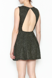1 Funky Black Pleated Dress - Back cropped