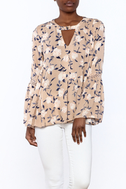 1 Funky Floral Bell-Sleeve Top - Product Mini Image
