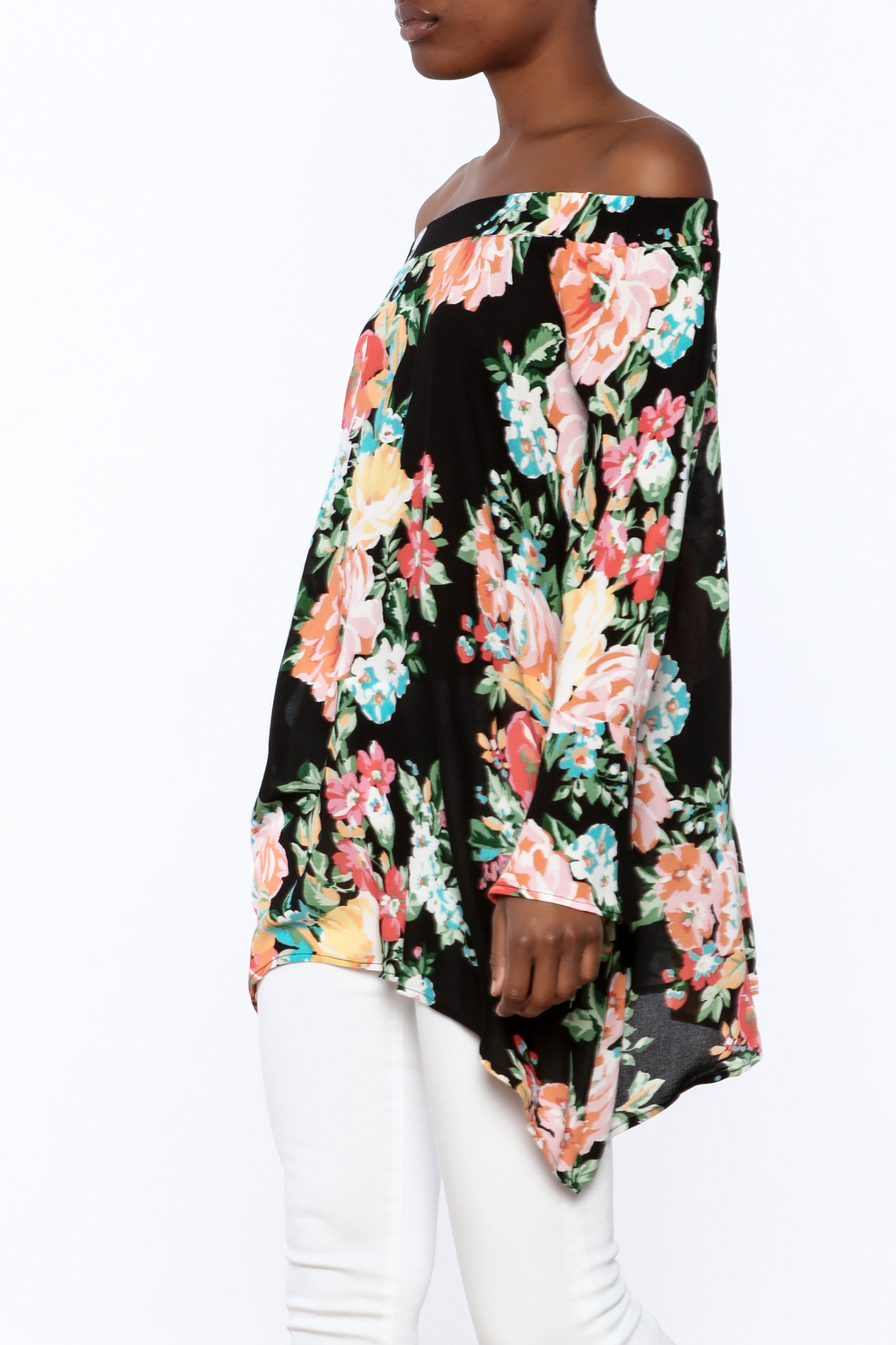 1 Funky Floral Off-Shoulder Top - Main Image