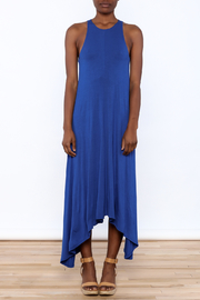1 Funky Blue Midi Dress - Front cropped