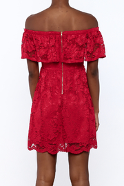 1 Funky Red Lace Dress - Back cropped
