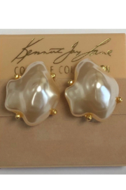 """Kenneth Jay Lane 1"""" Baroque Pearl Clip Earrings - Front cropped"""