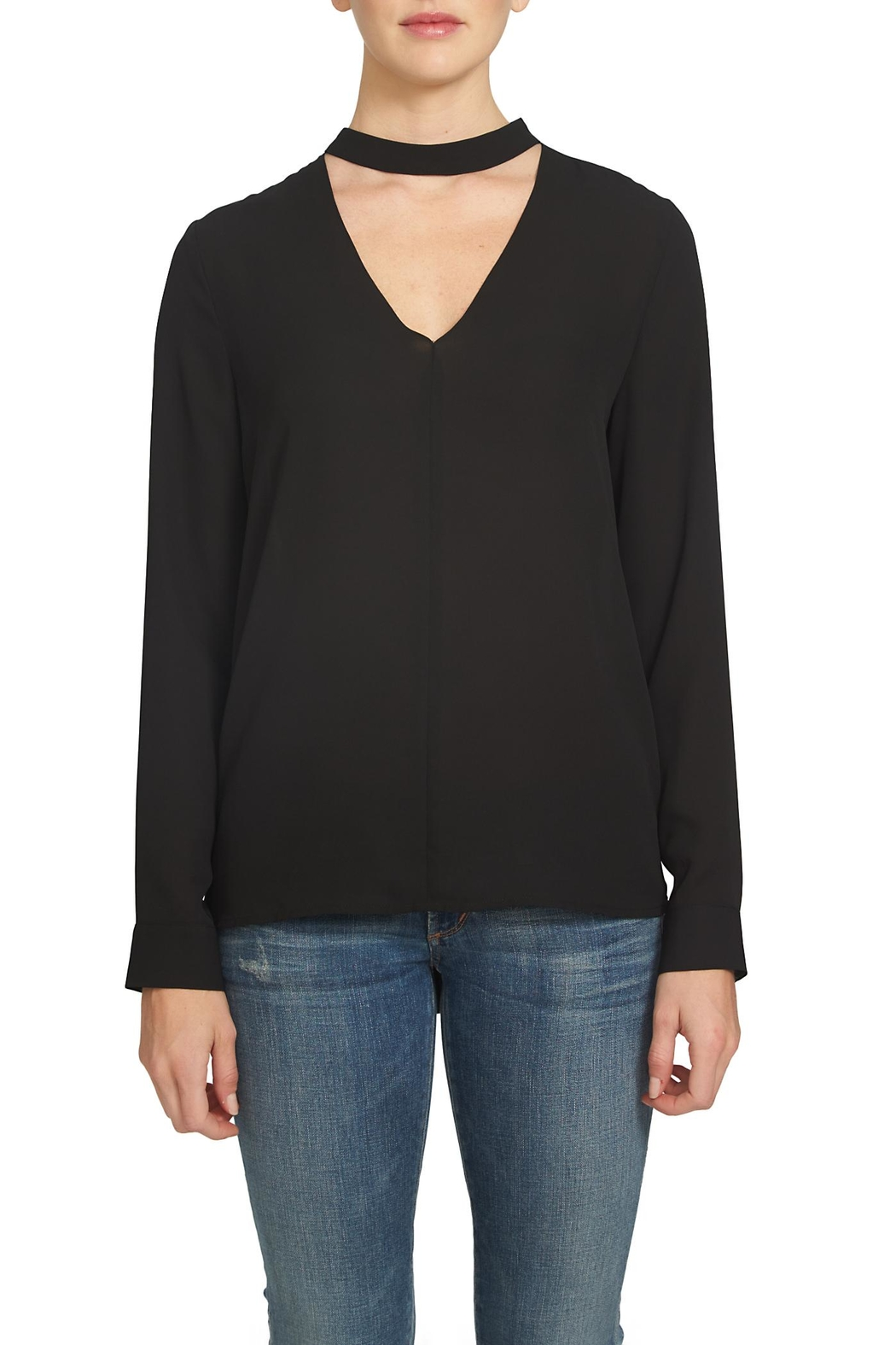1.State Bar Neck Blouse - Front Cropped Image