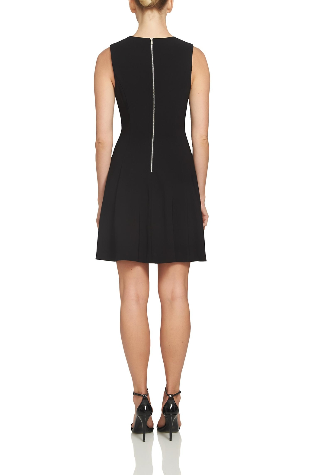 1.State Cross Tie Black Dress - Front Full Image