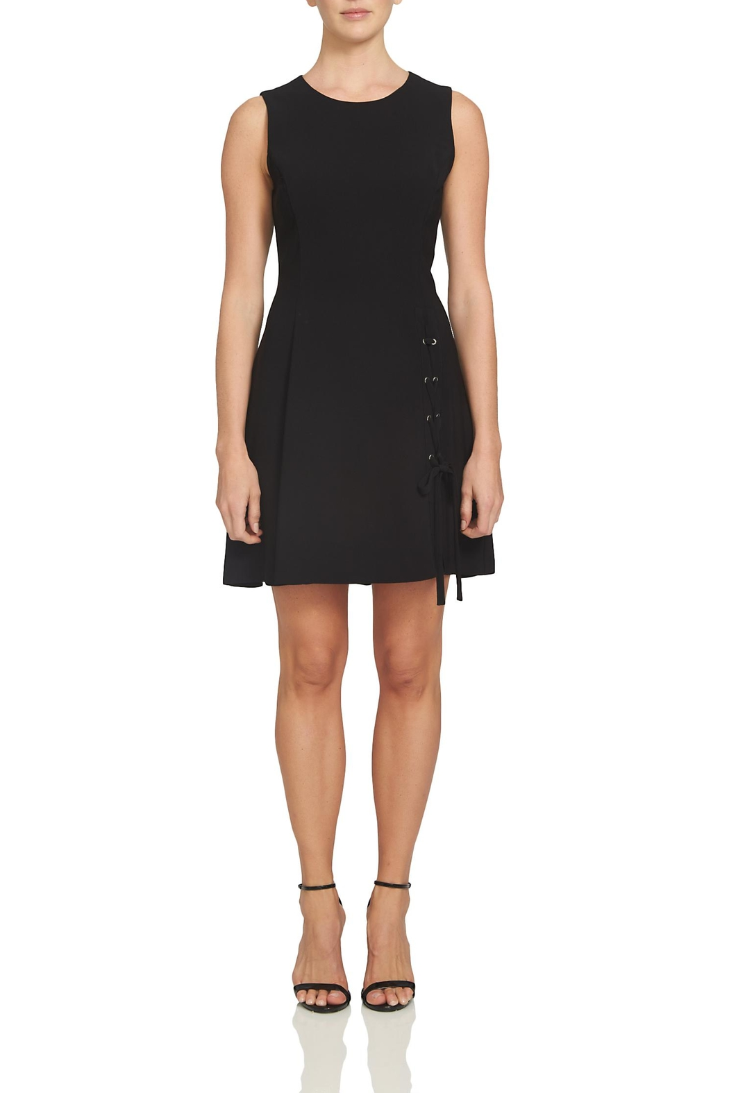 1.State Cross Tie Black Dress - Main Image