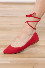 1.State Red Lace-up Flat - Product Mini Image