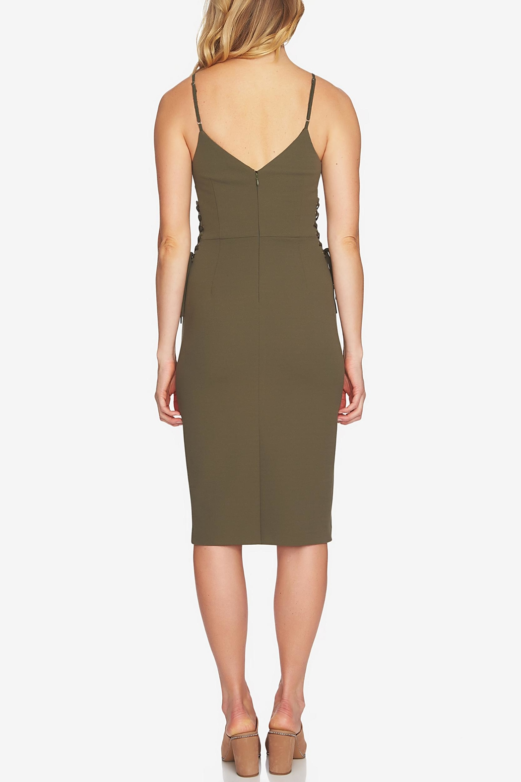1.State Slip Lace-Up Dress - Front Full Image