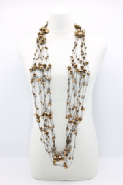 Jianhui London  10 Strand Crystal Beads Necklace - Front full body
