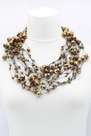 Jianhui London  10 Strand Crystal Beads Necklace - Front cropped