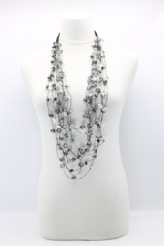 Jianhui London  10 Strand Crystal Necklace - Front cropped