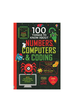 Usborne 100 Things To Know About Numbers, Computers & Coding - Alternate List Image
