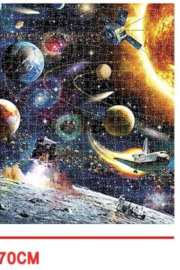 Freeship Wholesale - Faire 1000 Pc Space Puzzle for Kids and Adults - Front full body