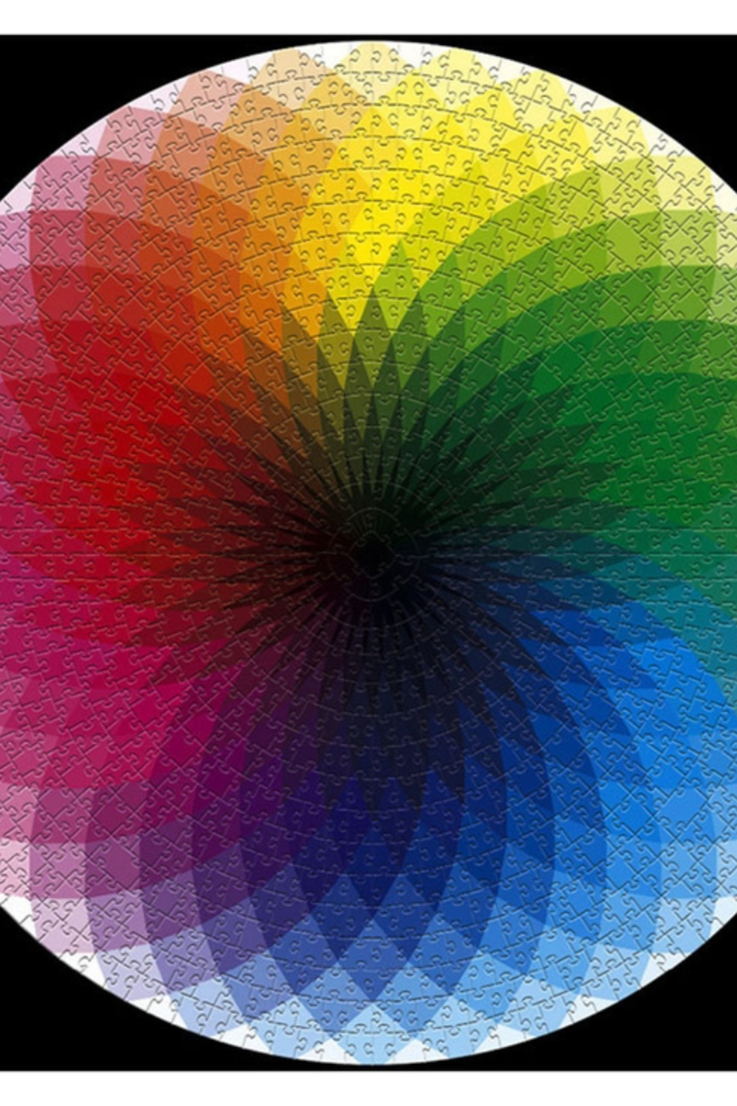 Freeship Wholesale - Faire 1000 piece Round Rainbow Puzzle for Kids and Adults - Main Image