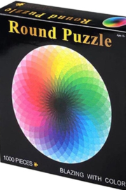 Freeship Wholesale - Faire 1000 piece Round Rainbow Puzzle for Kids and Adults - Front full body