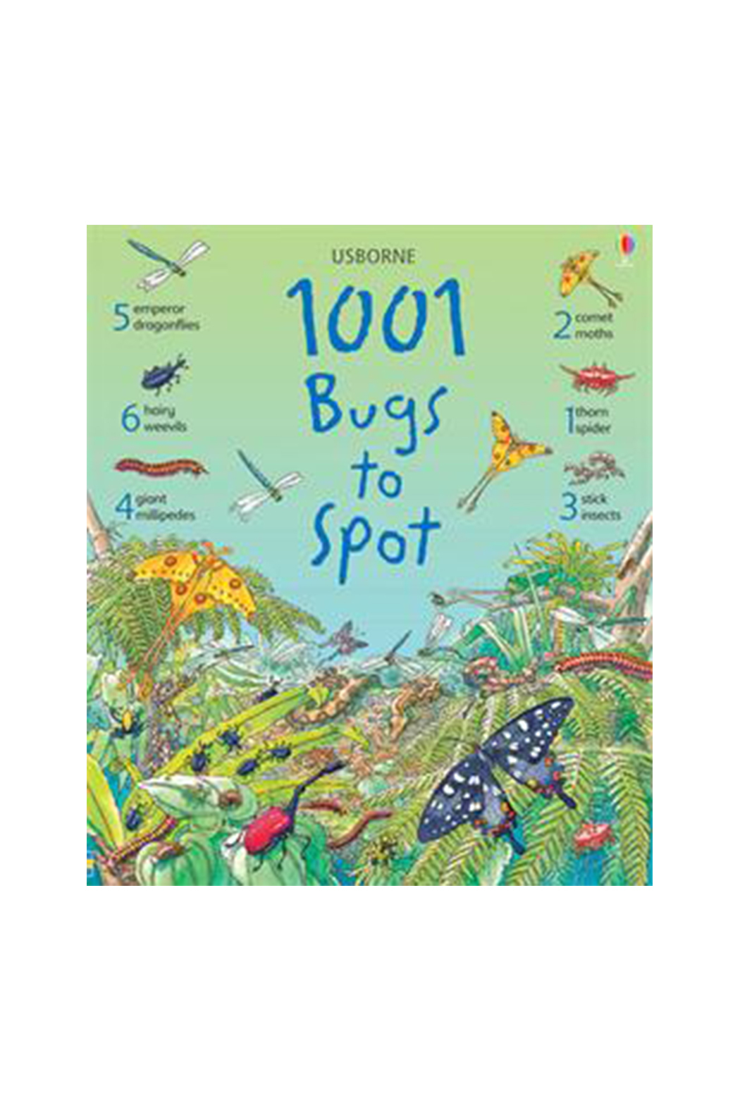 Usborne 1001 Bugs To Spot - Front Cropped Image