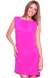 Shoptiques Product: Pink Skeleton Dress - Front cropped