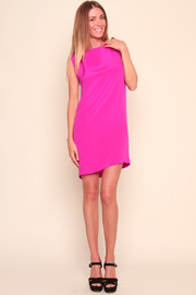 Shoptiques Product: Pink Skeleton Dress - Front full body