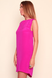 Shoptiques Product: Pink Skeleton Dress - Side cropped