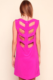 Shoptiques Product: Pink Skeleton Dress - Back cropped