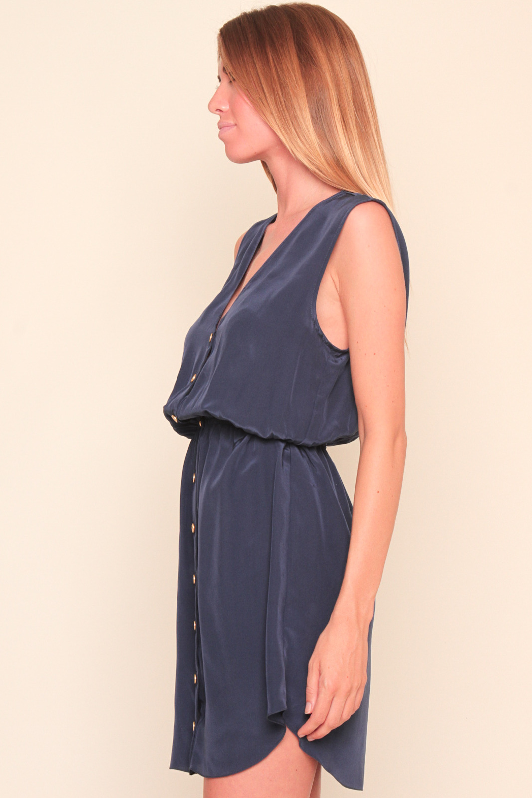 Aaron Ashe Silk Button Down Dress From Brooklyn By Thistle
