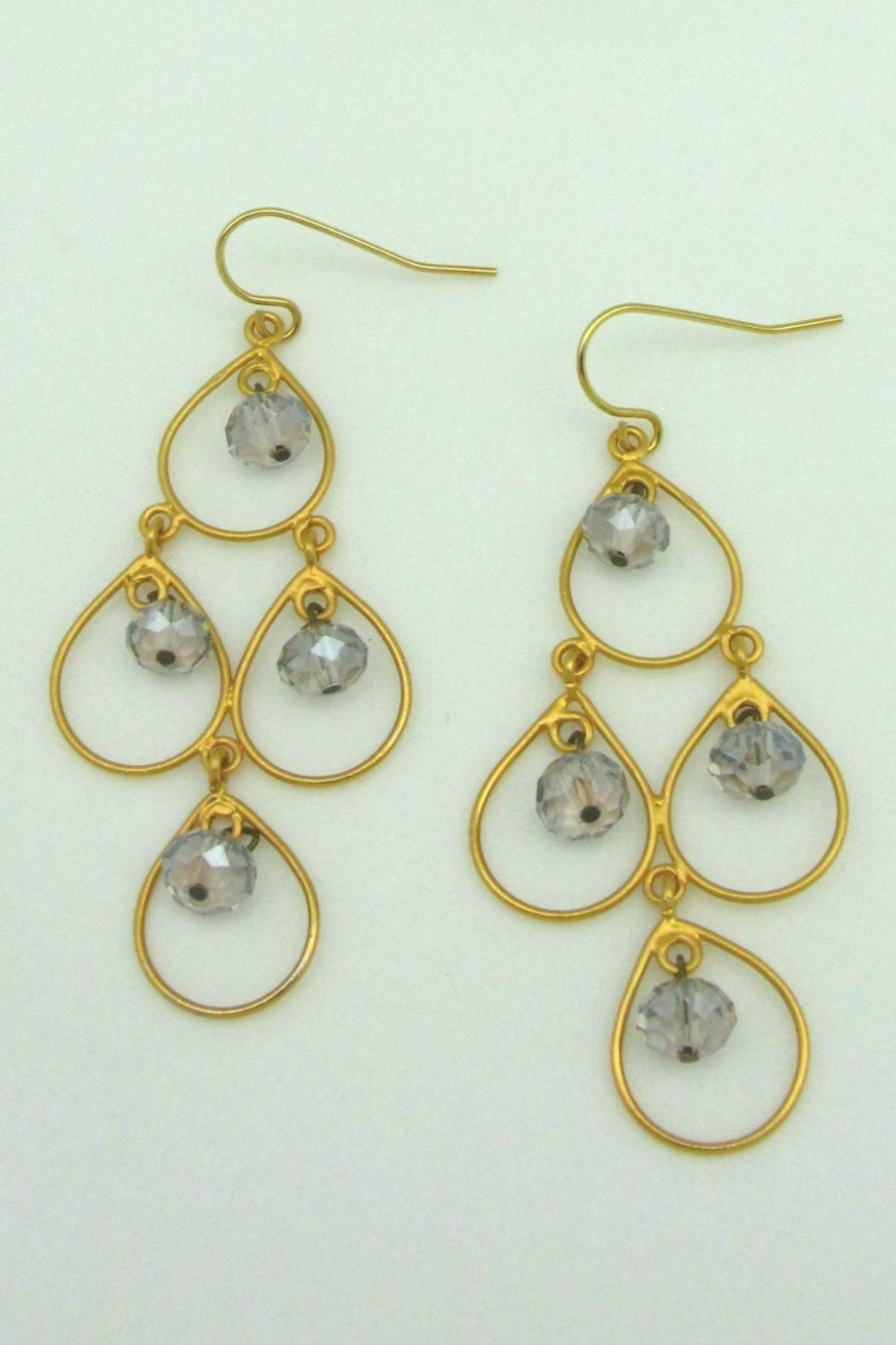 Magnolia Chandelier Glacier Earring - Front Cropped Image