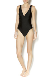 BeachCandy Shirred One Piece - Front full body