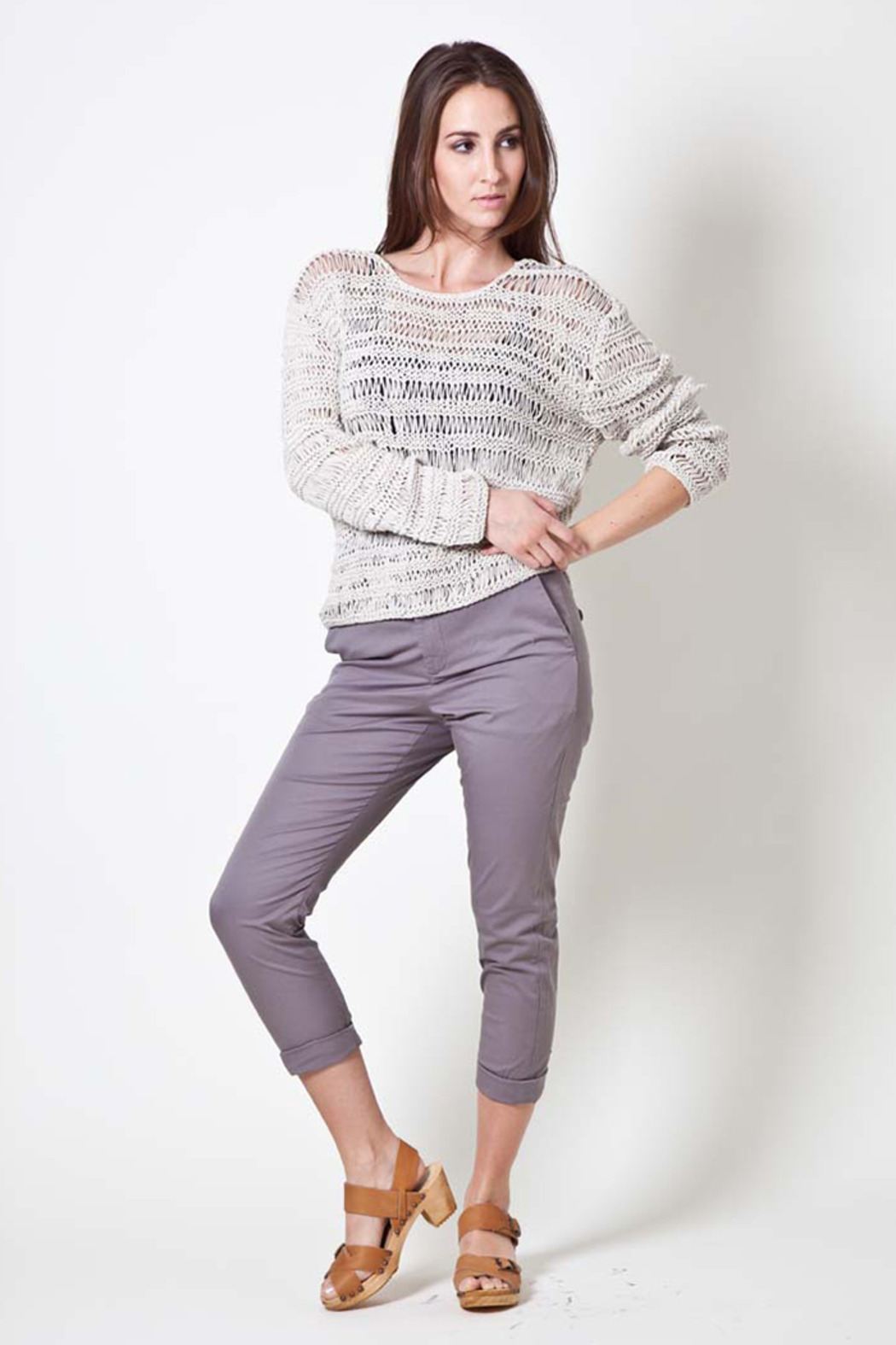 Hope Macrame Sweater - Front Cropped Image
