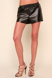 Understar Leatherette Boxing Shorts - Front cropped