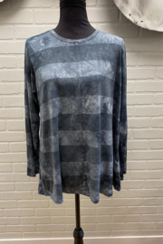 Annie Turbin Grey Hand Dyed Top - Product Mini Image