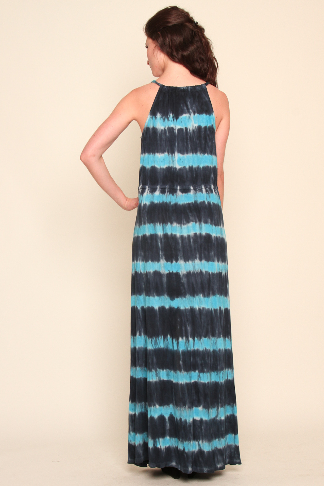 Young Fabulous & Broke Tie-Dyed Maxi Dress - Side Cropped Image