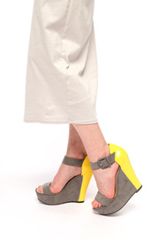 Shoptiques Product: Color-Block Platform Wedge Sandals - Other