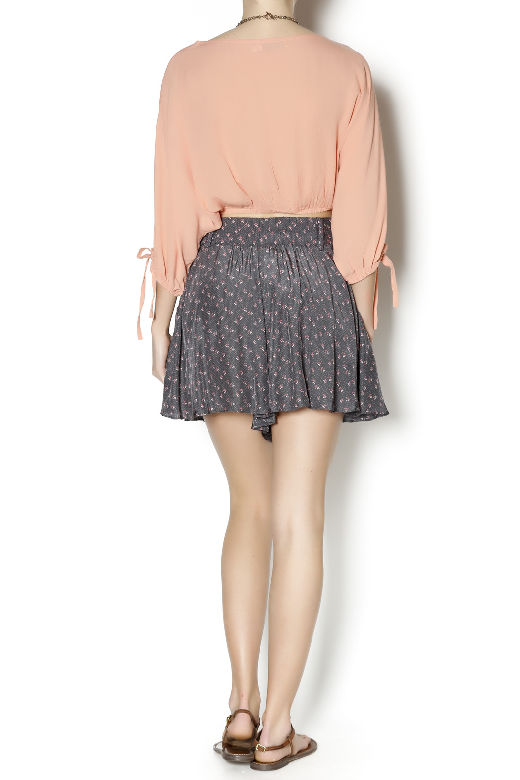 Free People Retro Floral Shorts - Side Cropped Image