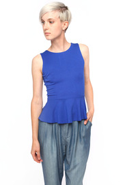 Paul NKC Keyhole-Back Peplum Top - Front cropped
