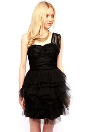 Shoptiques Product: Tulle and Lace Cocktail Dress