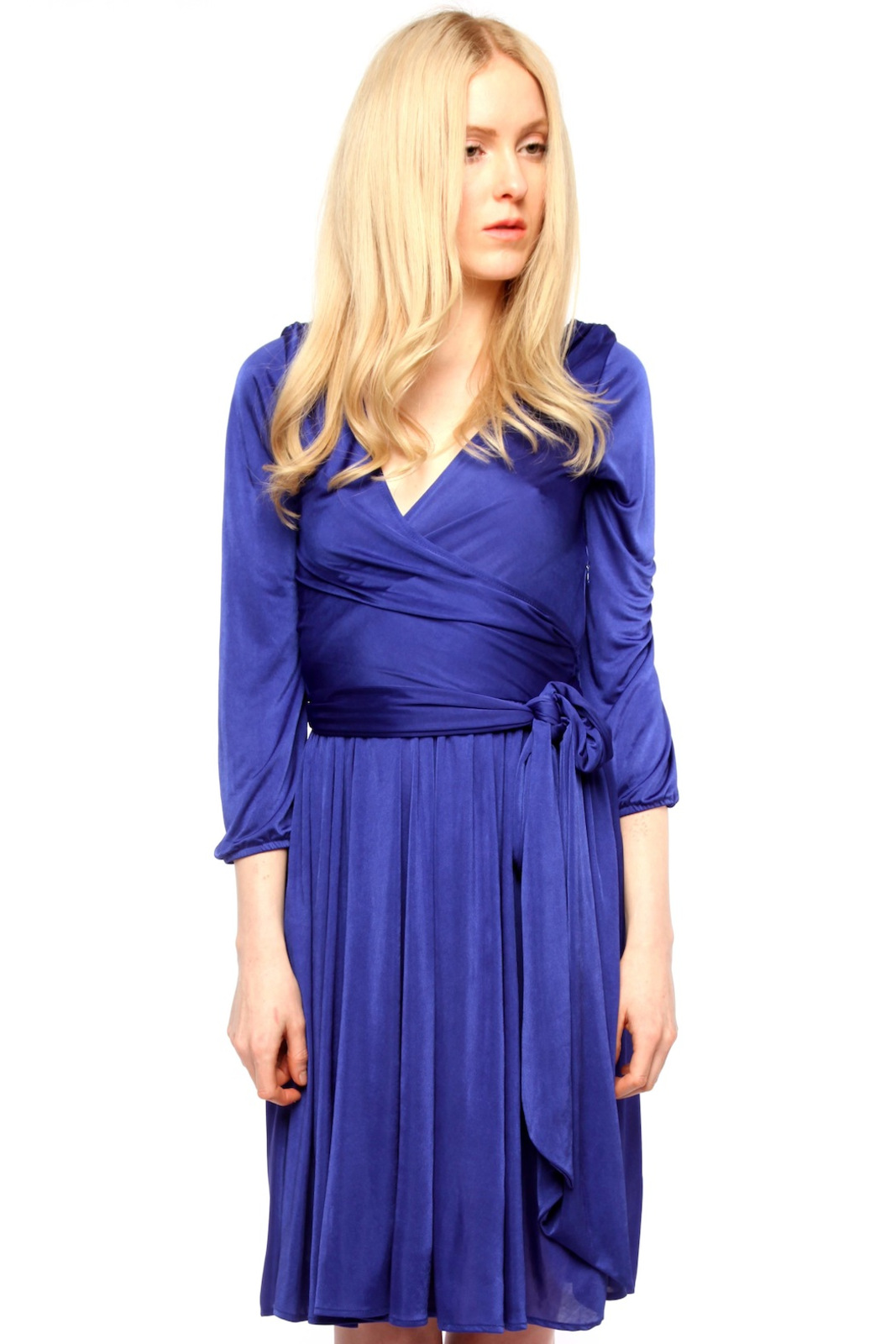 Rubber Ducky Matte Jersey Wrap Dress - Front Cropped Image