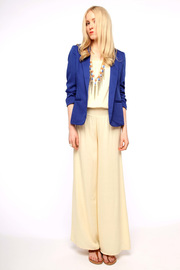 San Souci Scrunched-Sleeve Blazer - Front full body