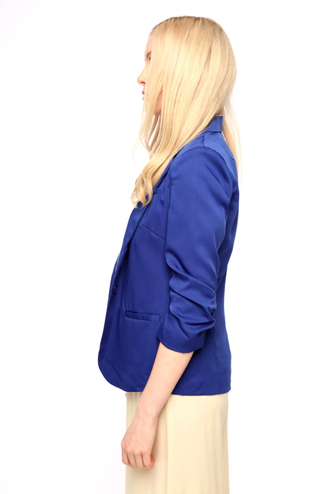 San Souci Scrunched-Sleeve Blazer - Side Cropped Image