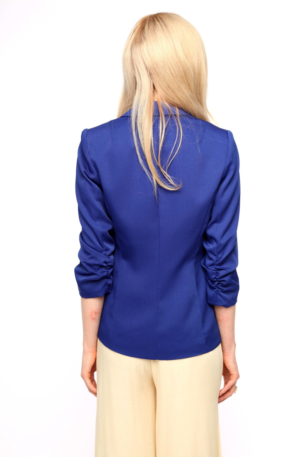 San Souci Scrunched-Sleeve Blazer - Back Cropped Image