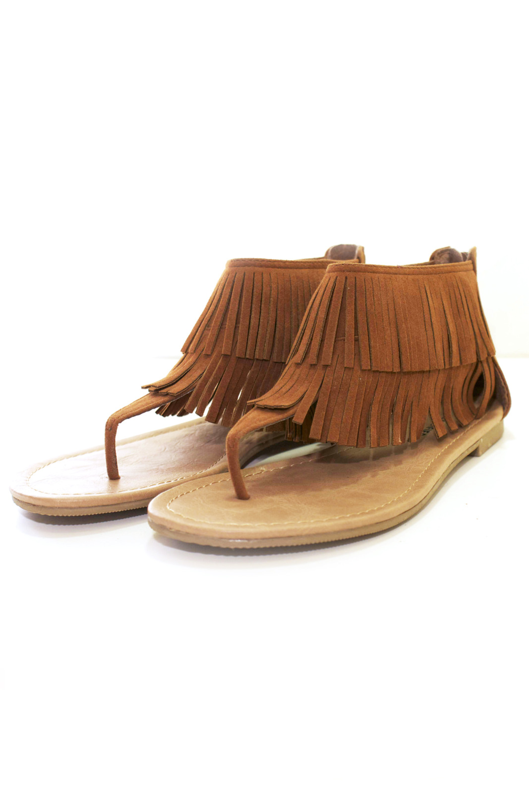 cdd7716682d City Classified Fringe Flat Sandals from Miami by Prinzzesa — Shoptiques